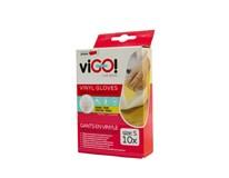 Rukavice vinylové S viGO 10 ks