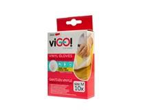 Rukavice vinylové M viGO 10 ks