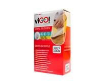 Rukavice vinylové S viGO 100 ks