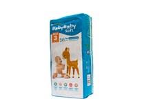 BabyBaby Soft Ultra-Dry Midi detské plienky 1x56 ks