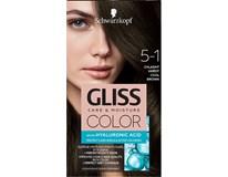 Schwarzkopf Gliss Color farba na vlasy 5-1 chladná hnedá 1x1 ks