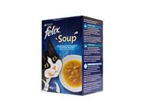 Felix Soup treska a tuniak krmivo pre mačky 6x48 g