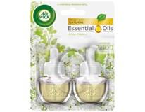 Air wick Essential Oils electric biele kvety frézie osviežovač náhradná náplň 2x19ml