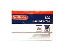 Karty do kartotéky A6/100 biele Herlitz 1ks