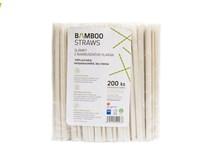 Slamky bambusové 6x230 mm Bamboo 200ks