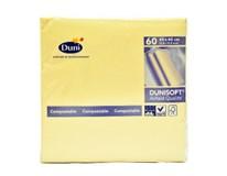 Servítky papierové Dunisoft krémové 40cm Duni 60ks