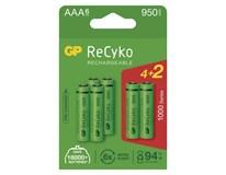 Batérie nabíjacie Recyko HR03 1000 AAA GP 4+2ks navyše