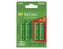 Batérie nabíjacie Recyko HR6 2700 AA GP 4+2ks navyše