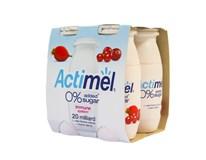 Danone Actimel Jog.mlieko bez pridaného cukru mix (šípky-č.ríbezle, jah.) chlad. 4x100 g
