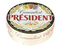 Président Camembert syr s bielou plesňou chlad. 1x250 g