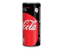 Coca Cola zero 24x250 ml PLECH