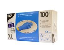 Rukavice latexové XL modré HACCP Papstar 100 ks