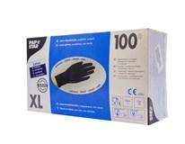 Rukavice latexové XL čierne HACCP Papstar 100 ks