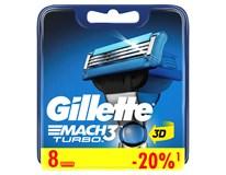 Gillette Mach 3 Turbo náhradné hlavice 1x8 ks
