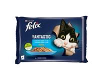 Felix Fantastic losos a platesa krmivo pre mačky 4x85 g