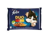 Felix Fantastic duo mäso krmivo pre mačky 4x85 g