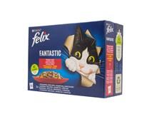 Felix Fantastic mix mäso krmivo pre mačky 12x85 g