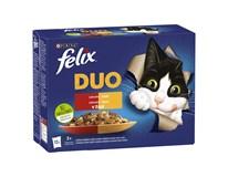 Felix Fantastic duo mäso pre mačky 12x85 g