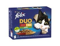 Felix Fantastic duo mäso a zelenina krmivo pre mačky 12x85 g