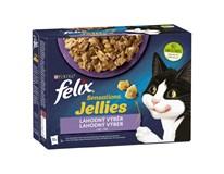 Felix Sensations želé mix krmivo pre mačky 12x85 g
