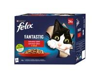 Felix Fantastic lahodný výber krmivo pre mačky 24x85 g