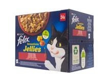 Felix Sensations želé krmivo pre mačky 24x85 g