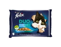 Felix Fantastic duo ryba krmivo pre mačky 4x85 g