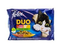 Felix Fantastic duo mäso a zelenina krmivo pre mačky 4x85 g
