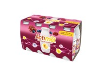 Danone Actimel Jogurtové mlieko granátové jablko a vitamín C chlad. 8x100 g