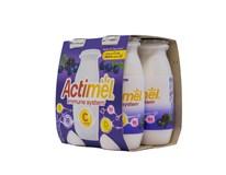 Danone Actimel Jogurtové mlieko čučoriedka, černica a vitamín C chlad. 4x100 g