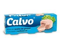 Calvo Tuniak v slnečnicovom oleji 3x80 g