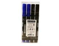 Značkovač 8566 čierny/modrý Centropen 2+2ks