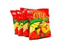 M-snack Ovocné chrumky mix 4x100 g