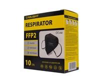 Respirátor čierny FFP2 1x10 ks