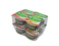 Activia Jogurt biely mix červené ovocie/broskyňa a cereálie chlad. 8x120 g