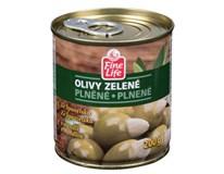 Fine Life Olivy zelené s mandľou 4x200 g