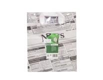 Taška papierová Noviny 25x26x17cm Newsprint 50ks