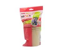 Pohár papierový 330ml hnedý viGO 6ks