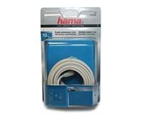 Kábel koaxiálny biely 10m 75dB HAMA 1ks