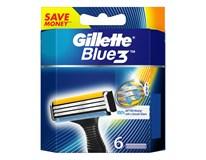 Gillette Blue3 náhradné hlavice 6 ks