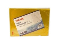 Obal zakladací L pvc žltý SIGMA 25ks