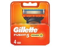 Gillette Fusion Power náhradné hlavice 1x4 ks