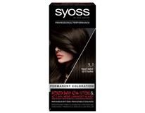 Syoss color 3 - 1 tmavohnedý farba na vlasy 1x1 ks