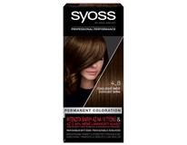 Syoss color 4 - 8 čokoládovo hnedá farba na vlasy 1x1 ks