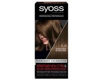 Syoss color 5 - 8 orieškovo hnedá farba na vlasy 1x1 ks