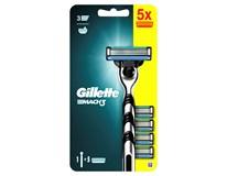 Gillette Mach3 strojček + 5 náhradných hlavíc 1ks