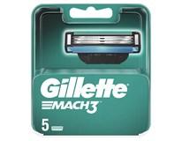 Gillette Mach3 5 náhradných hlavíc 1ks