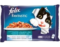 Felix losos+platýz v želé kapsičky krmiva wet cat 4x100 g