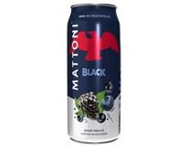 Mattoni Black minerálna voda 24x500 ml PLECH