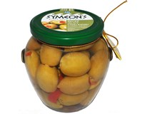 Symeon's Olivy zelené s paprikovou pastou 1x580 ml